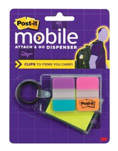 Post-it Attach and Go Notes and Tabs Clip Dispenser, 2 x 1.5 Inches Notes, 1 x 1.5 Inches Tabs, 24 Notes and 24 Tabs per Pack (PM-KC1) Post-it http://www.amazon.com/dp/B00AWCZS1M/ref=cm_sw_r_pi_dp_I67.ub1H4D8K8