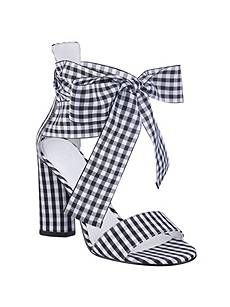 f1dfcb1249d Allison Gingham Ankle-Wrap Heels