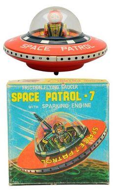 Lot # : 535 - Tin Litho Friction Space Patrol-7.