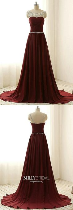 Long Prom Dresses Burgundy,Maroon Formal Evening Dresses Chiffon,Modest Military Ball Dresses A-line,Simple Wedding Party Dresses Cap Sleeves Year 10 Formal Dresses, Modest Formal Dresses, Elegant Prom Dresses, Chiffon Evening Dresses, Formal Dresses For Women, Cheap Prom Dresses, Formal Evening Dresses, Party Dresses, Prom Gowns