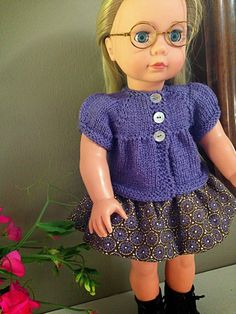 Knitionary: Snickerdoodle Free knitting pattern for American Girl Doll