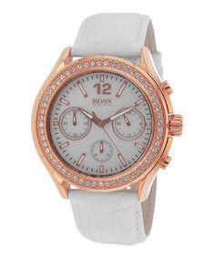 White Cadiz Mother-of-Pearl Watch by HUGO BOSS ~ sale $149.99 Reg. $415.00