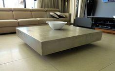 Concrete grey coffee table   C U B E [projects@floatdesign.co.za] #concretefurniture