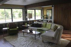 mid-century modern homes | Den in our 1958 Irwin Stein Mid Century Modern Home modern-family-room