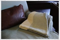 Chunky knit throw from Olmay Home