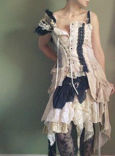 Naturally Bohemian #tattered #dress #romantic