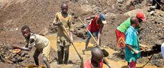 NIOS EN UNA MINA DE ORO DE LA RDC