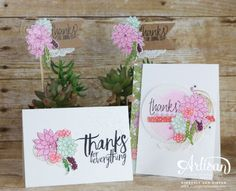 The Oh So Succulent Bundle is perfect create all occasion cards and more.