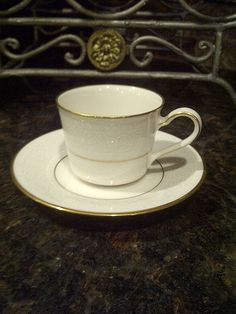 vintage noritake ivory china...i some similar to this, but with a silver rim... Marseilles is the pattern