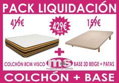 Pack Liquidación Colchón y Base tapizada