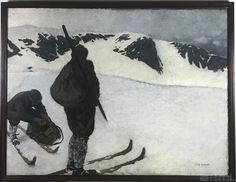 Buy online, view images and see past prices for Otto Barth (Austrian, Winter Snow Skiers Oil Painting FRAMED 46 Anton, Miami Beach, James Mcneill Whistler, Drypoint Etching, Mountain Pictures, Canvas Signs, Art Auction, Winter Snow, Painting Frames