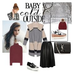 """""""Baby,it's cold outside!"""" by steffyyeah on Polyvore featuring moda, T By Alexander Wang, STELLA McCARTNEY, Helen Moore, Vince, Yves Saint Laurent, Miu Miu e By Malene Birger"""