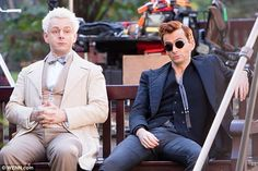 filming Good Omens (with Michael Sheen)