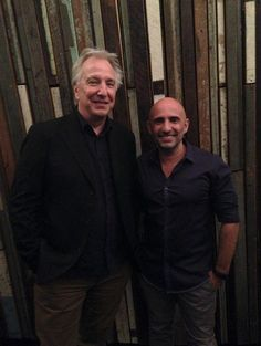March 2015 - Alan Rickman and a fan - taken at the Sydney Film Festival.