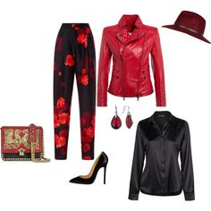 """""""Luxe Red and Black"""" by nightwisp on Polyvore"""