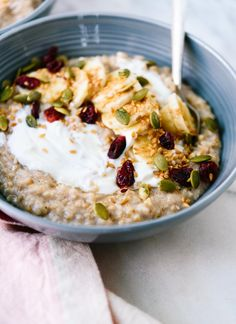 Learn how to make the best steel-cut oats here! cookieandkate.com