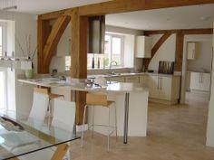 Beautiful wooden beam kitchen