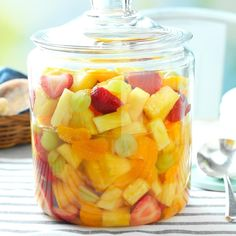 Sparkling Fruit Salad Recipe Taste of Home, mandarin orange dessert recipes, Bake Sparkling Cranberry Orange Cheesecake Life Love and . Taste Of Home, Potluck Recipes, Summer Recipes, Breakfast Recipes, Breakfast Dishes, Dessert Recipes, Cooking Recipes, Fruit Salad Recipes, Fruit Salads