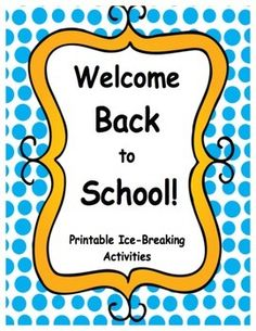 free printable and customizable welcome back to school