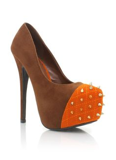 quilted-cap-toe-platforms BLACK BROWN - GoJane.com