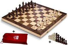 Smart Tactics 16 Folding Chess Set Made By FSC Certified Wood  Premium Edition With Chess Bag and Extra Chess Pieces ** You can get more details by clicking on the image.Note:It is affiliate link to Amazon.