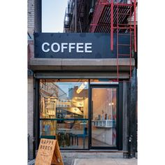 This New York City Coffee Shop Was Originally An Alleyway ❤ liked on Polyvore featuring backgrounds and pictures