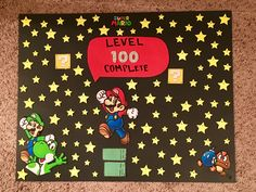 Mario 100th Day of School poster