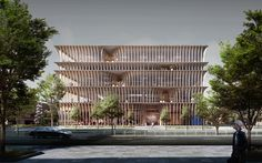 Entry from the international arhictecture competition for a new public library building in Varna, Bulgaria