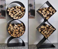 Dark Wood Kitchen Cabinets, White Wood Kitchens, Outdoor Wood Burning Fireplace, Range Buche, Scrap Wood Crafts, Firewood Holder, Wood Store, Wood Burner, Into The Woods