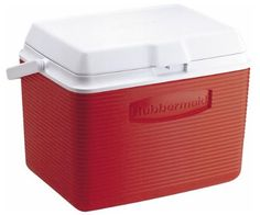 Rubbermaid Cooler  Ice Chest, 24-quart, Red
