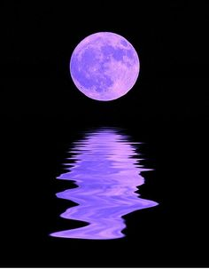 This is my moon with added color and reflection done with Photoshop