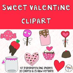 This Clipart Valentine Set is perfect for people with a sweet tooth💕😋 You can use it to create products for math centers, literacu centers, etc!