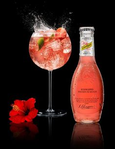 Tonic hibiscus the best taste ever schweppes premium for Cocktail 7cl