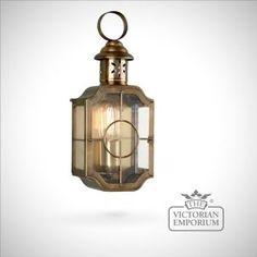 Kensington wall lantern - antique brass - Outdoor Wall Lights