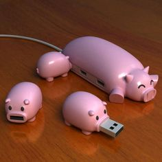 Little Piggy USB. How cleaver!