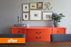 Before & After: Orange You Glad Rita Refreshed This Craigslist Dresser? | Apartment Therapy