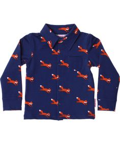 Baba Babywear tof retro hemd met kleine vosjes. baba-babywear.nl.emilea.be