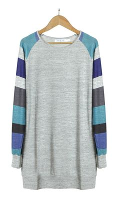 Basic is always classic, especially this Color Your Stripe Loose Top.Discover more at FIREVOGUE.COM