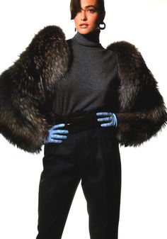 Irving Penn for American Vogue, October 1986. Jacket by Galanos.