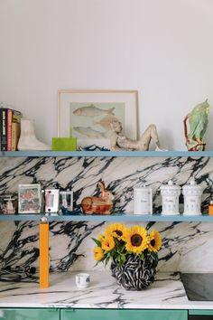Belgian design duo Muller Van Severen construct poetic furniture that is rooted in surrealism Kitchen Interior, Kitchen Design, Interior Architecture, Interior And Exterior, Danish Kitchen, Country Look, Kitsch, Plastic Shelves, Colorful Interiors