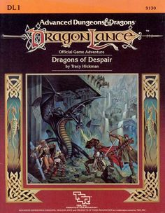 DL1 Dragons of Despair (1e) - Dragonlance | Book cover and interior art for Advanced Dungeons and Dragons 1.0 - Advanced Dungeons & Dragons, D&D, DND, AD&D, ADND, 1st Edition, 1st Ed., 1.0, 1E, OSRIC, OSR, Roleplaying Game, Role Playing Game, RPG, Wizards of the Coast, WotC, TSR Inc. | Create your own roleplaying game books w/ RPG Bard: www.rpgbard.com | Not Trusty Sword art: click artwork for source