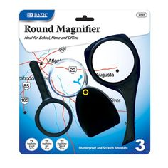 BAZIC 2x Magnifier Sets (3/Pack) Case Pack 24