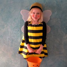 Bumblebee Bumble Bee Halloween Costume Dress - Sizes Newborn to Girls Size 12 - 18 Months - Baby Costume, Kids Costume, Black Yellow Striped by aprilscott on Etsy https://www.etsy.com/listing/59007257/bumblebee-bumble-bee-halloween-costume