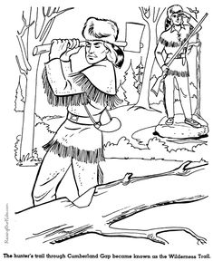 Wilderness Trail History Coloring Page For Kids 029