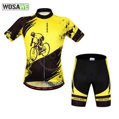 Wosawe Professional Padded Reflective Cycling Jersey Sets Skin-friendly Breathable Quick Dry Sweatproof Short Sport Clothing* #Affiliate