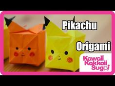 Learn how to fold origami Pikachu. Origami photo by synconi and video tutorial from Kawaii Kakkoii Sugoi. Origami Cube, Origami Stars, How To Make Origami, Useful Origami, Pokemon Birthday, 8th Birthday, Pokemon Bookmark, Pikachu, Origami Bookmark