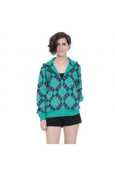 This winter, fight against chilly winds wearing this green coloured women' s sweatshirt #sweatshirt #womensfashion #onlinesweatshirt