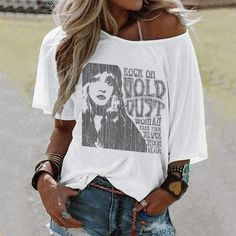 Cowgirl Style Outfits, Cute Casual Outfits, Preppy Outfits, Stylish Outfits, Girl Outfits, Hippie Outfits, Hippie Festival, Festival Wear, Stevie Nicks T Shirt
