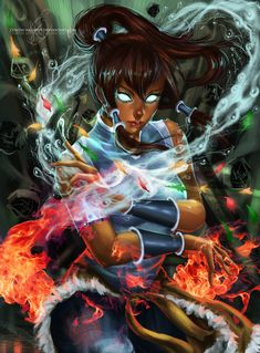 Korra - Avatar State by *Zenith-Nadir69 on deviantART  she would be the scariest because of her temper