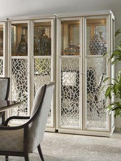 Mirrored and fretwork looks like this from Marge Carson's Bolero Collection are right on trend with the new Gorgeous Glam.